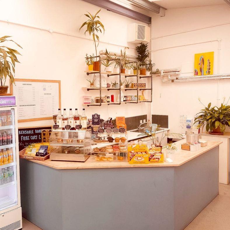 Cafe service counter